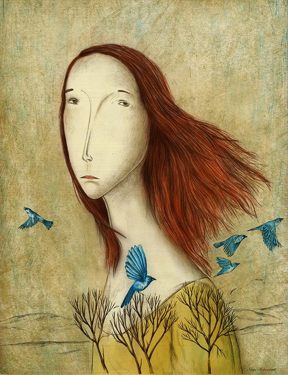 editorial illustration, Narjes Mohammadi, تصویرسازی، نرجس محمدی
